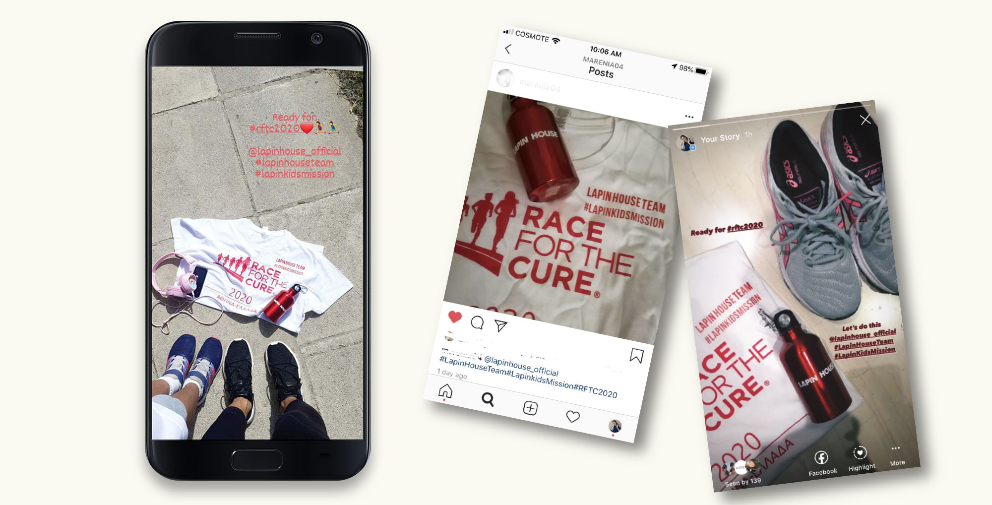 CSR Campaign: Lapin House Supports Race for the Cure in the Largest Virtual Race of Europe